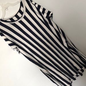 Other - 2 pc Long Shirt with Shorts Stripes Matching Set